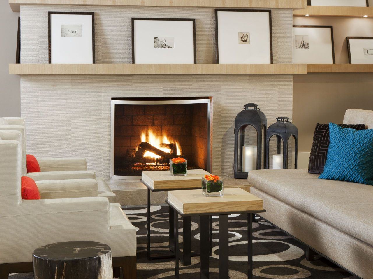 Hyatt Regency Newport Beach Fireplace