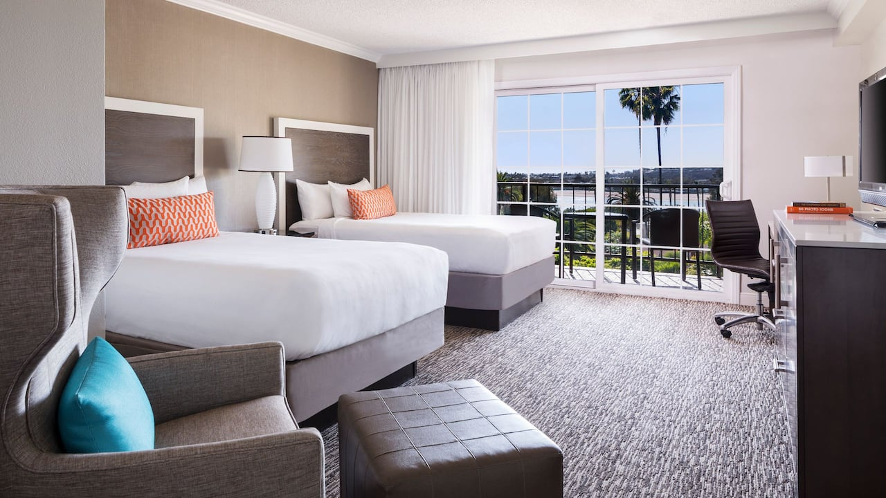 Hyatt Regency Newport Beach Double Beds Bay View