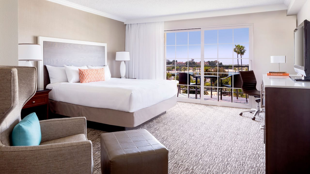 Hyatt Regency Newport Beach King Bed Bay View