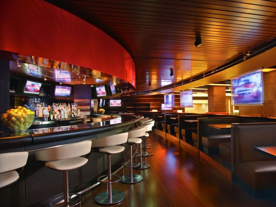 Red bar seating