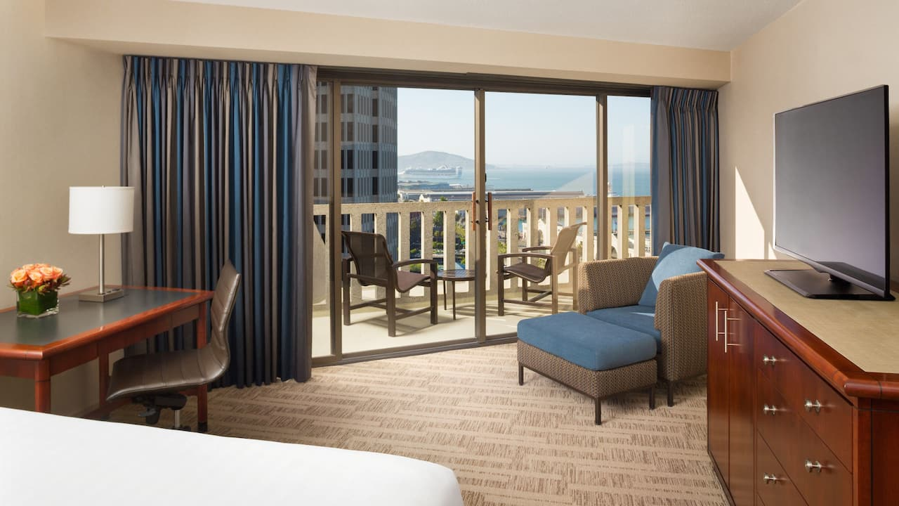 1 King Bed Bay View Balcony Room Hyatt Regency San Francisco