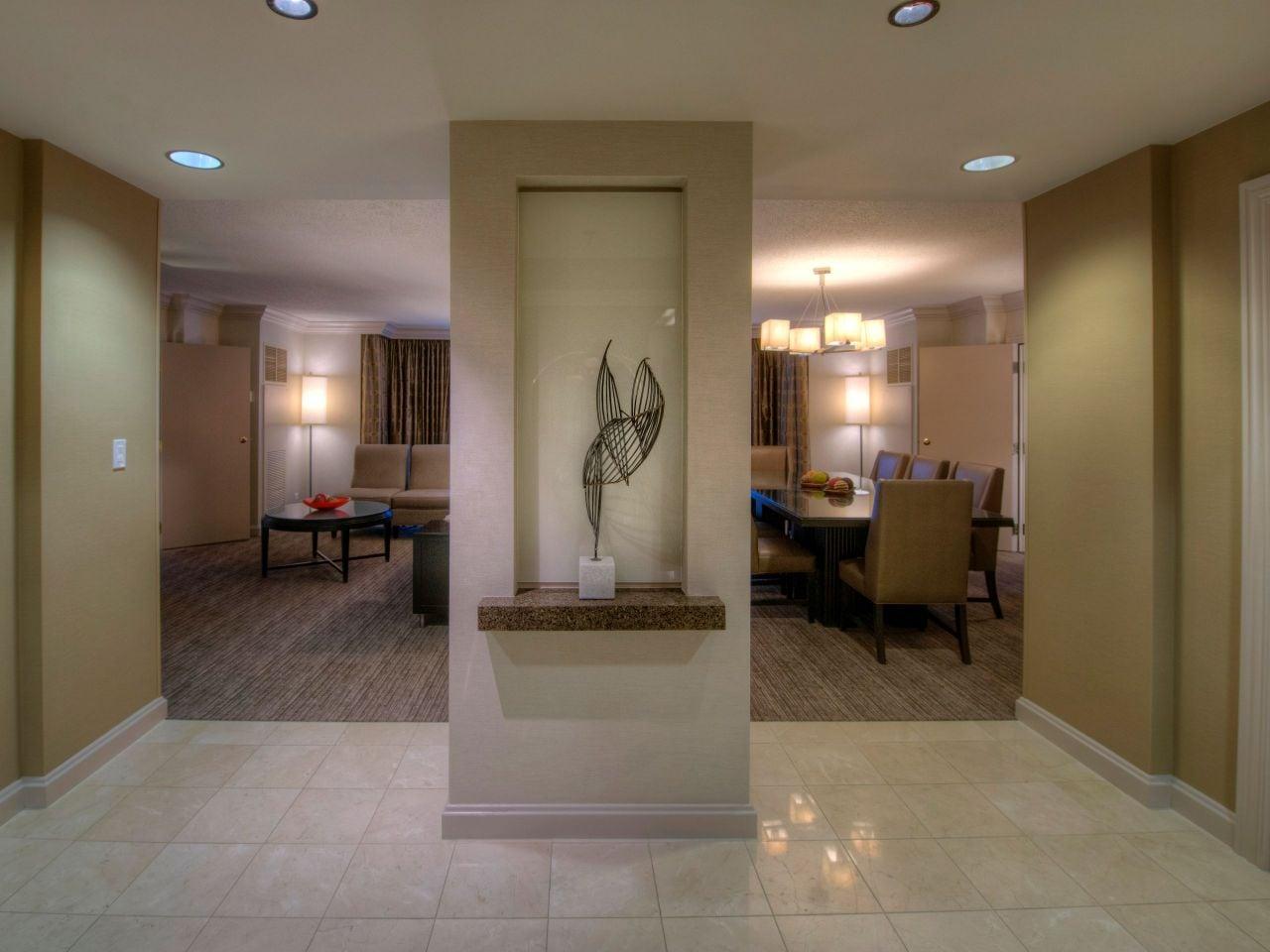 Hotel suite entryway
