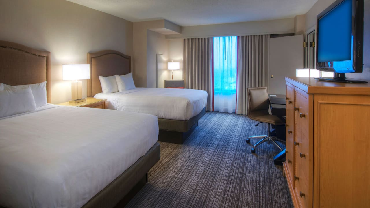 suite with double beds at Hyatt Regency Reston