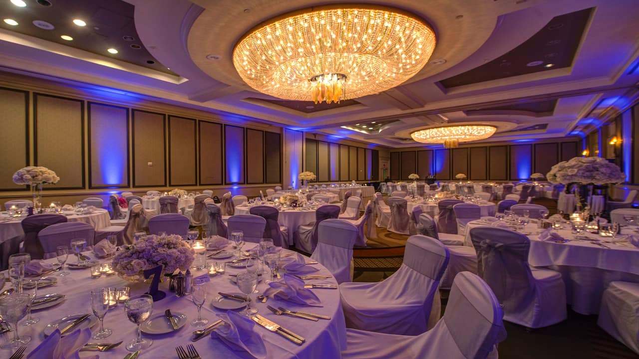 wedding ballroom at Hyatt Regency Reston