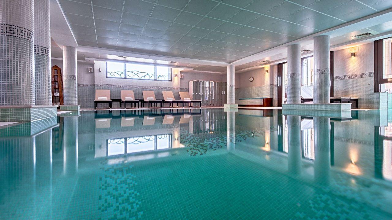 Indoor and outdoor pool at Hyatt RegencyNice Palais De LaMéditerranéeHotel