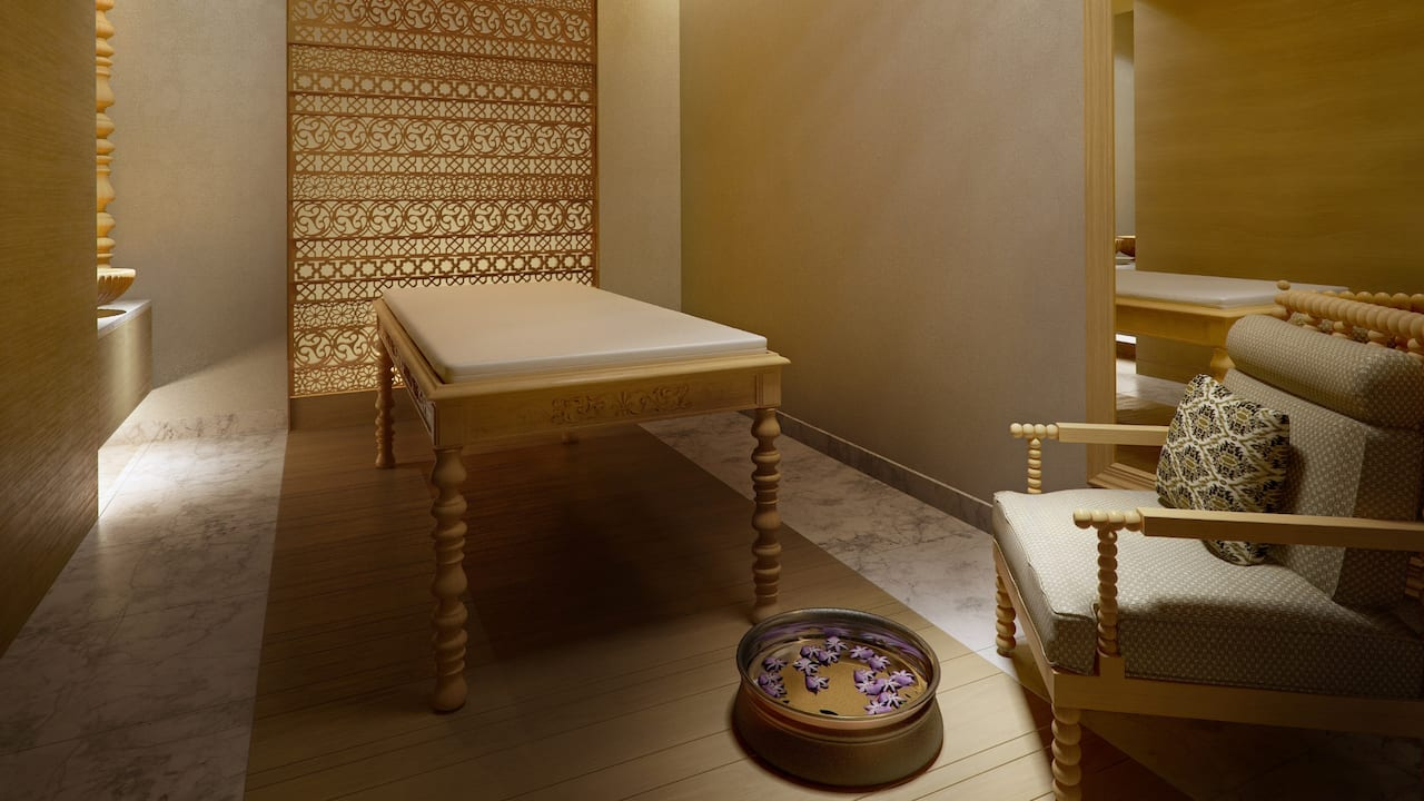 Treatment room at Shvasa Spa
