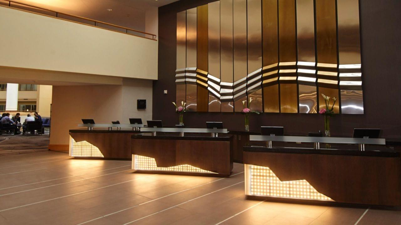 Lobby at Hyatt Regency Princton