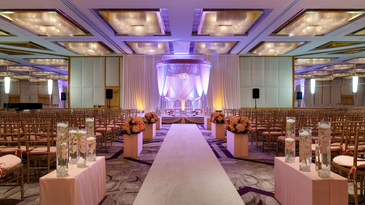 Hyatt Regency Princeton Hotel Ballroom Wedding Photo