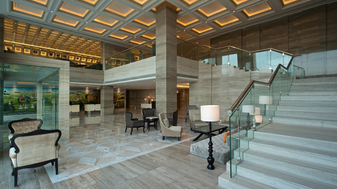 Lobby of Hyatt Regency Ludhiana