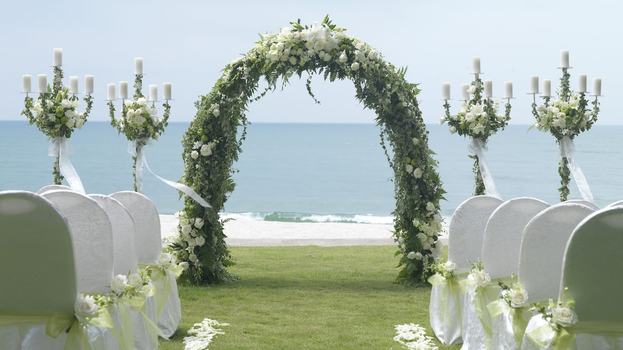Hyatt Regency Kuantan Resort Beachfront Wedding Ceremony