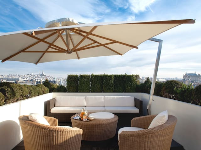 Terrace - Presidential Suite at Hotel Hyatt Paris Madeleine