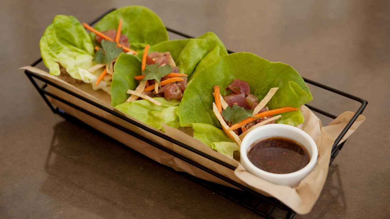 Ahi Poke Lettuce Wraps Hyatt Regency Orange County
