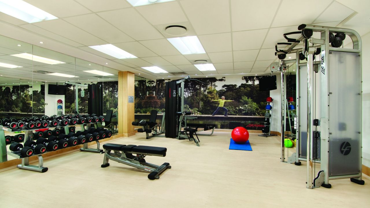 Fitness center inside the hotel