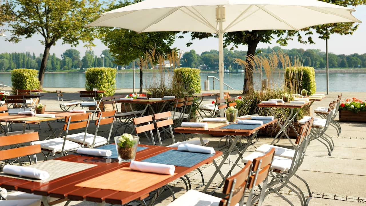 Rheintöchter Terrace at Hyatt Regency Mainz