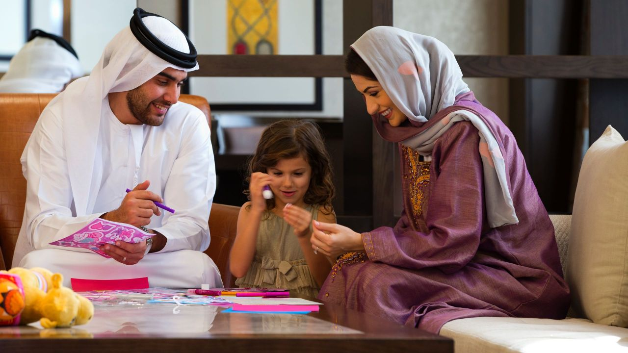 Arabic family in Royal Suite