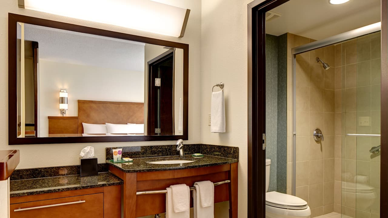 Modern Hotel Bathrooms – Hyatt Place Salt Lake City/Downtown/The Gateway