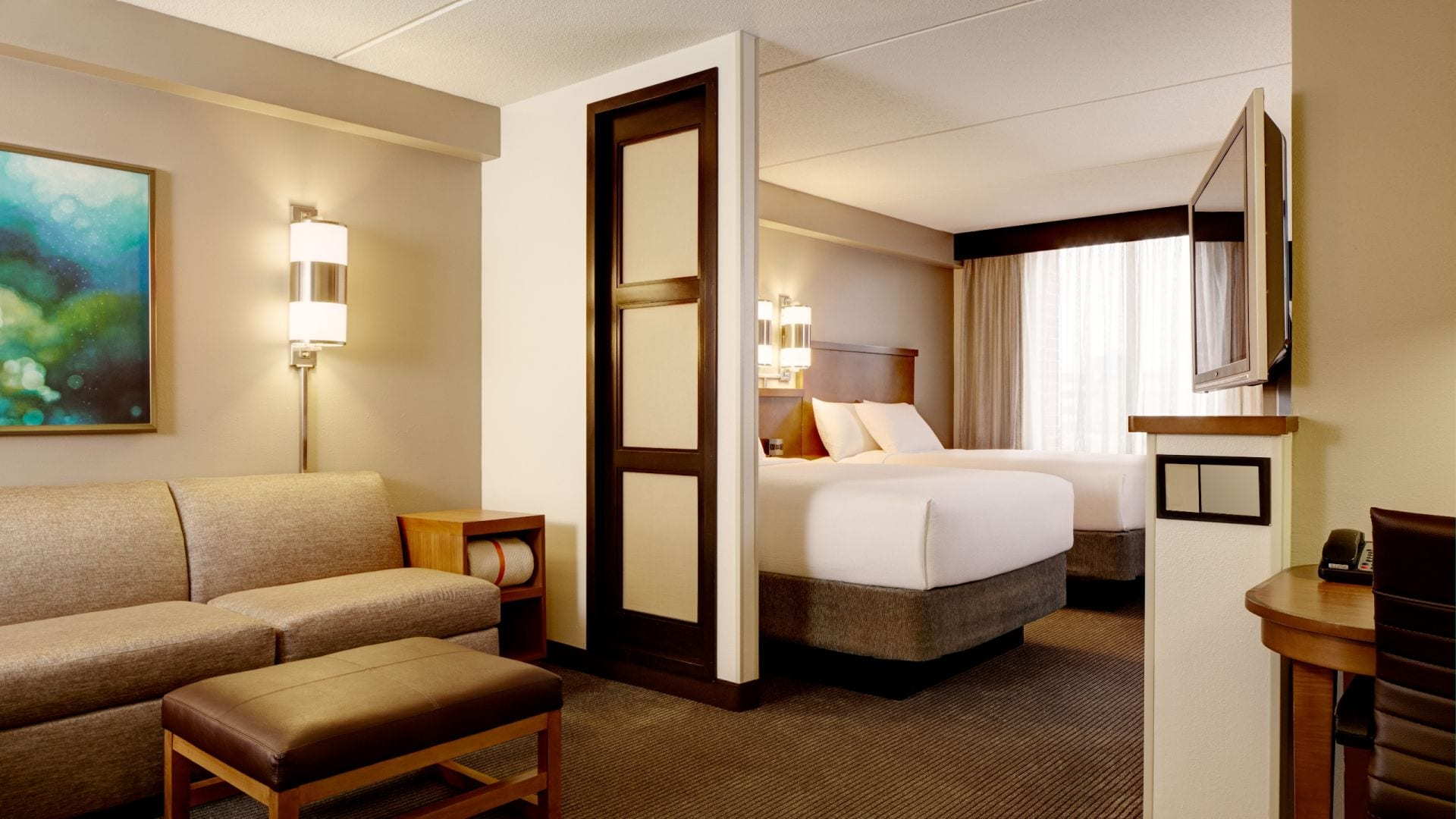 Hyatt Place Kansas City Airport Room with Two Beds