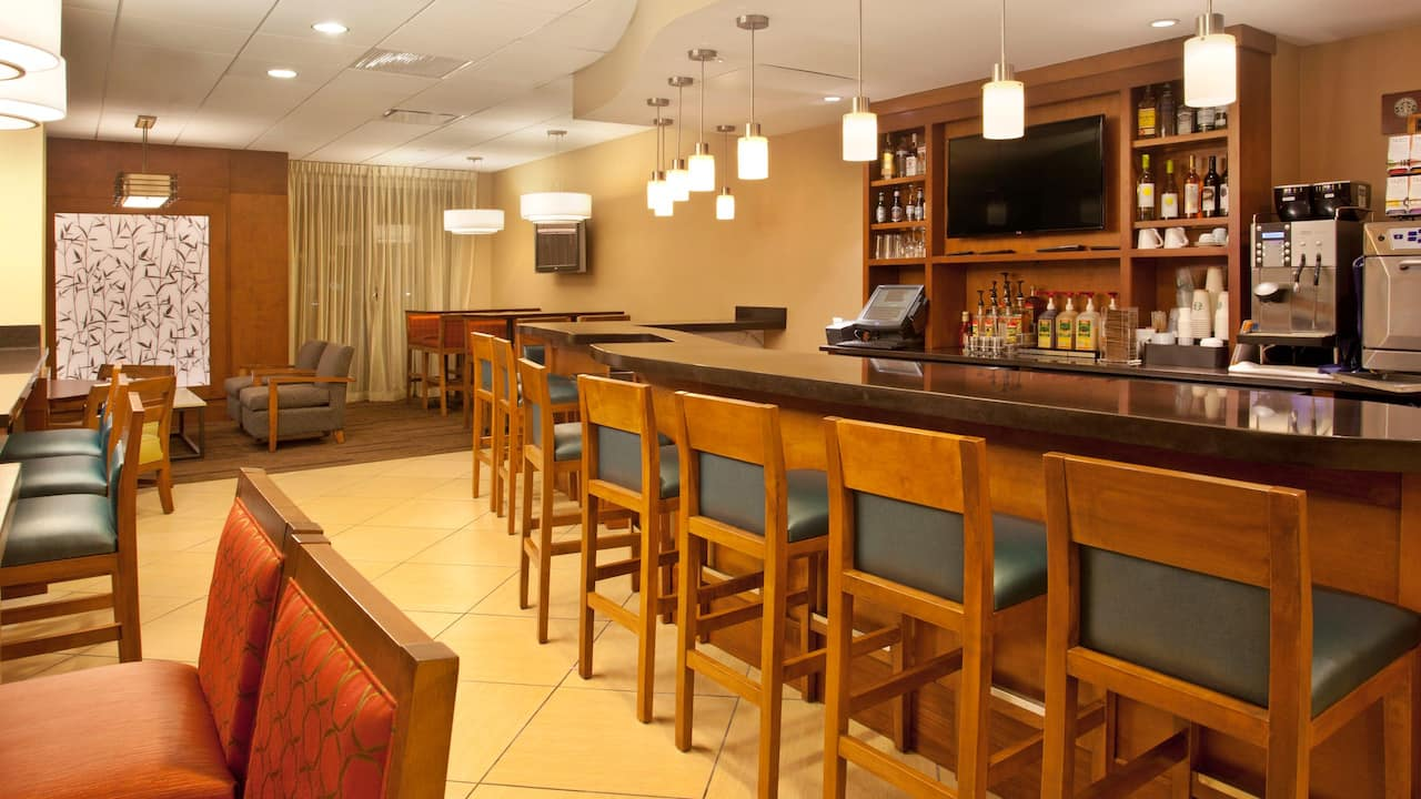 Restaurant with bar seating