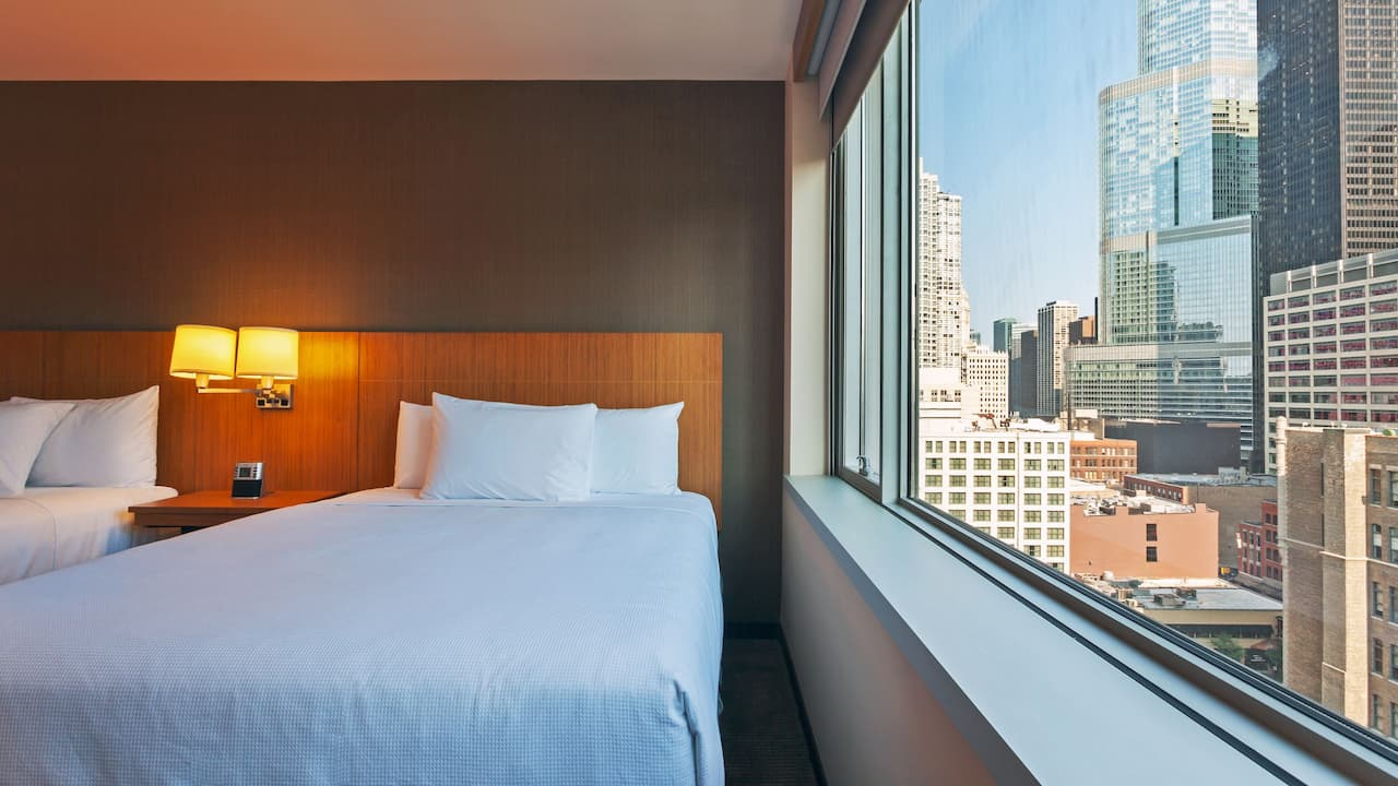Hotels Near Magnificent Mile Room with View Hyatt Place Chicago/River North