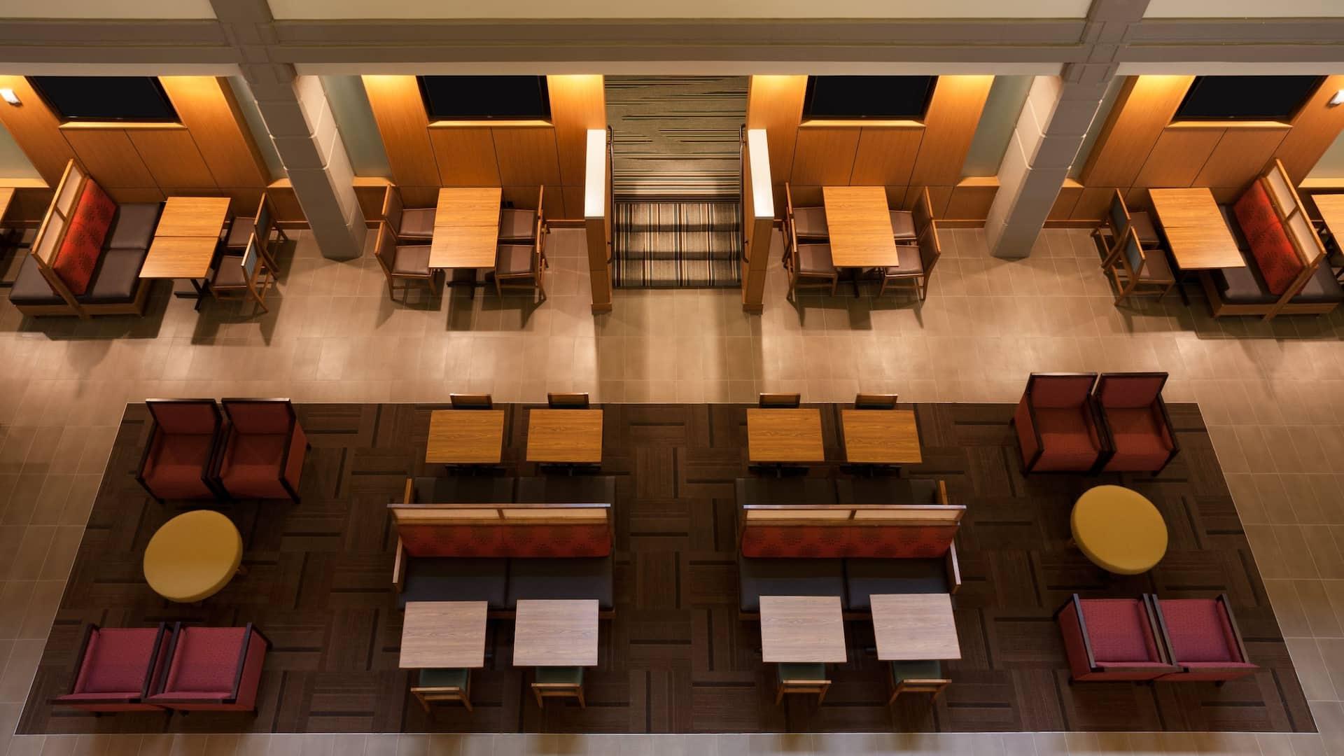 South atrium seating