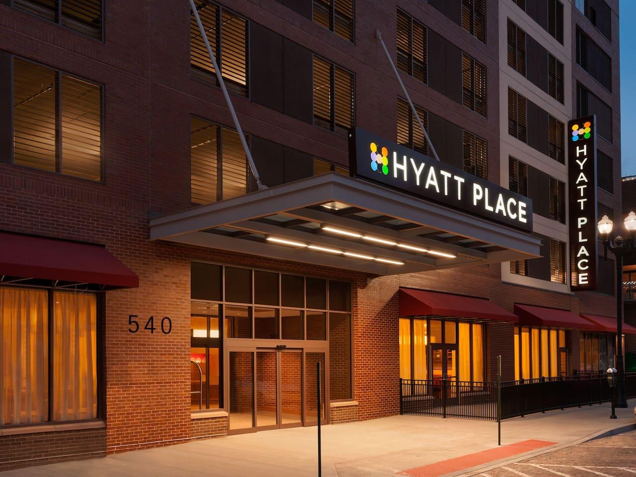 hyatt hotel exterior shot