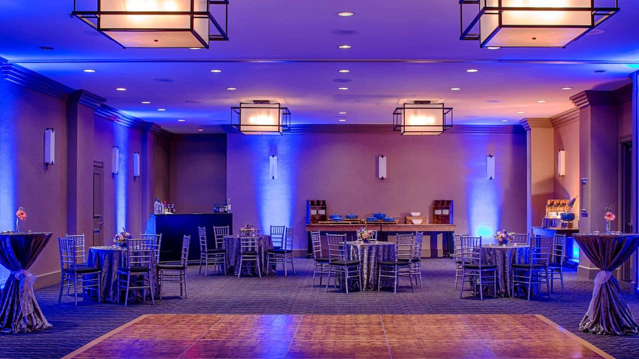 Banquet Setup Blue