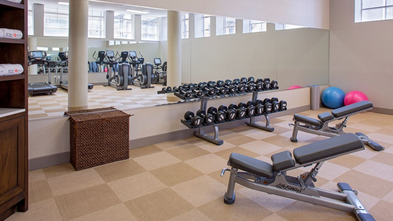 Hotel Fitness Center near Bourbon Street Hyatt Centric French Quarter New Orleans