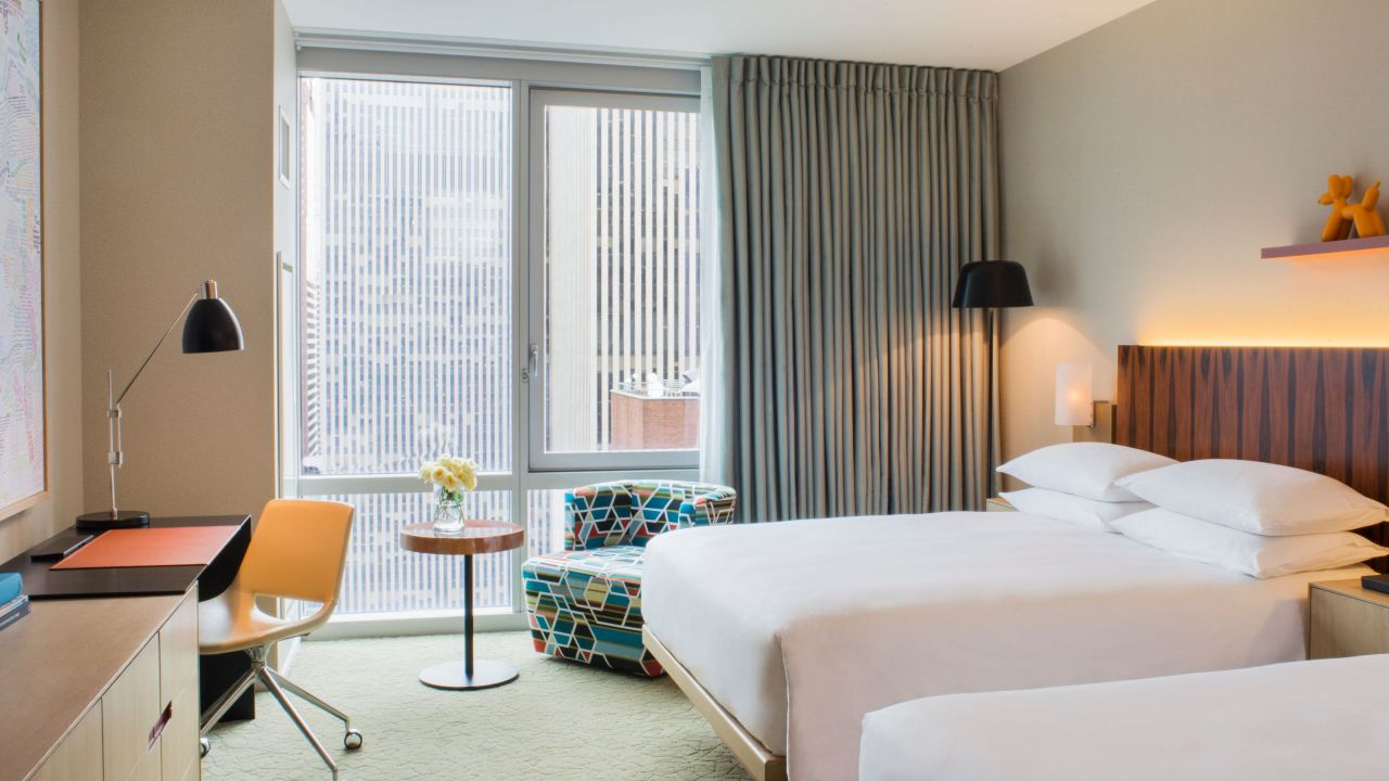 Hyatt Centric Times Square New York Two Queen Beds City View Deluxe
