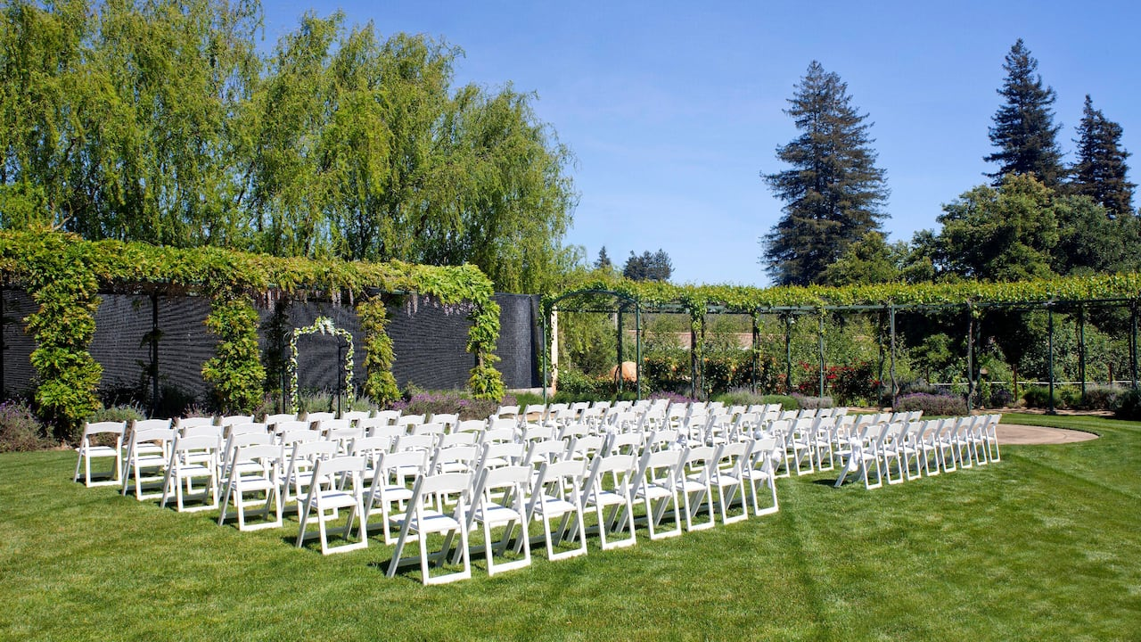 Outdoor Wedding Space at Hyatt Regency Sonoma Wine Country