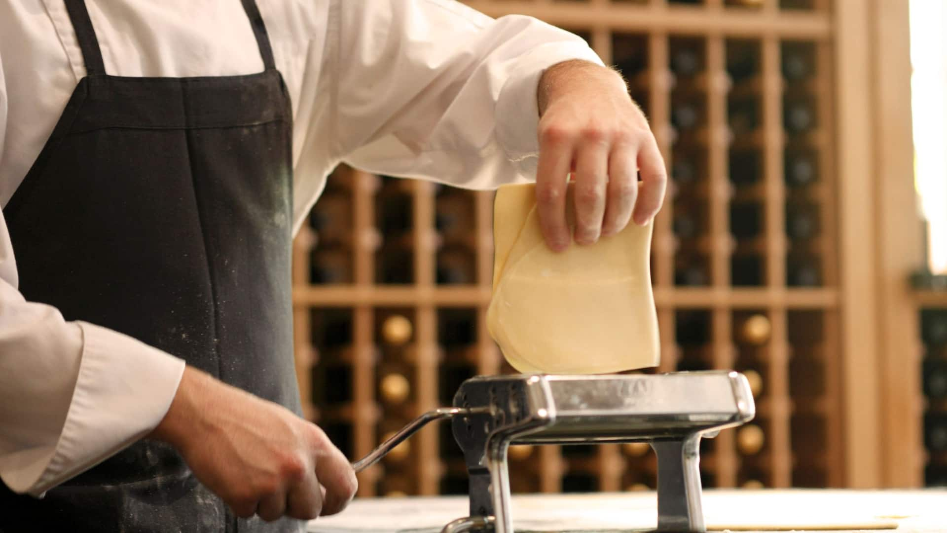 Man Making Homemade Pasta
