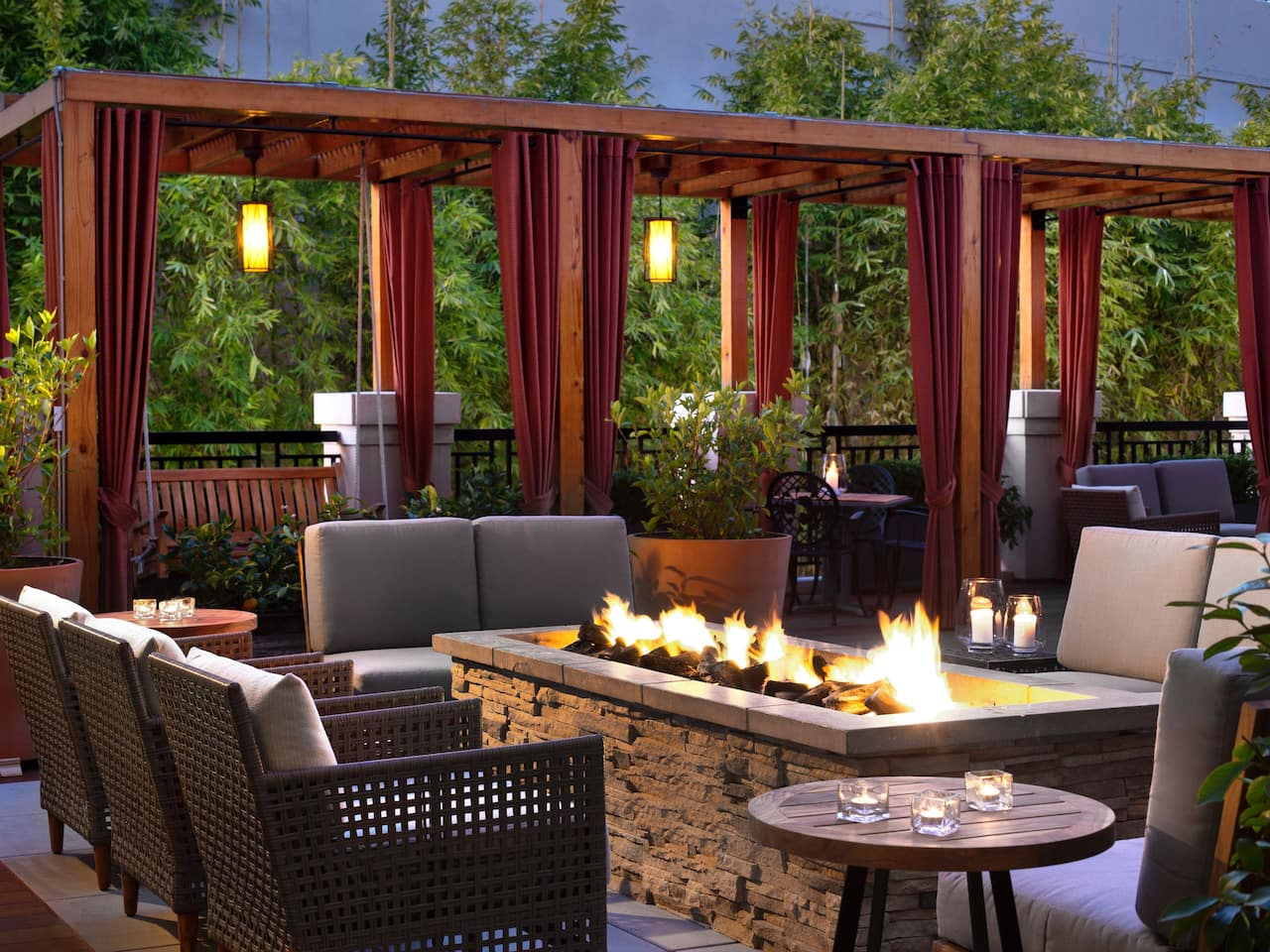Andaz Napa fireplace