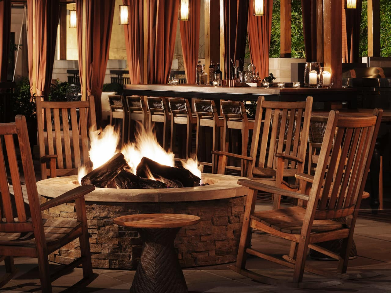 Outdoor Seating and Firepit at Mercantile Terrace in Napa