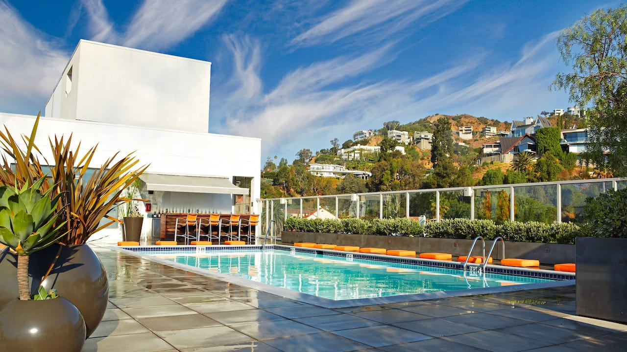 Hotel Rooftop Pool Hollywood Hills