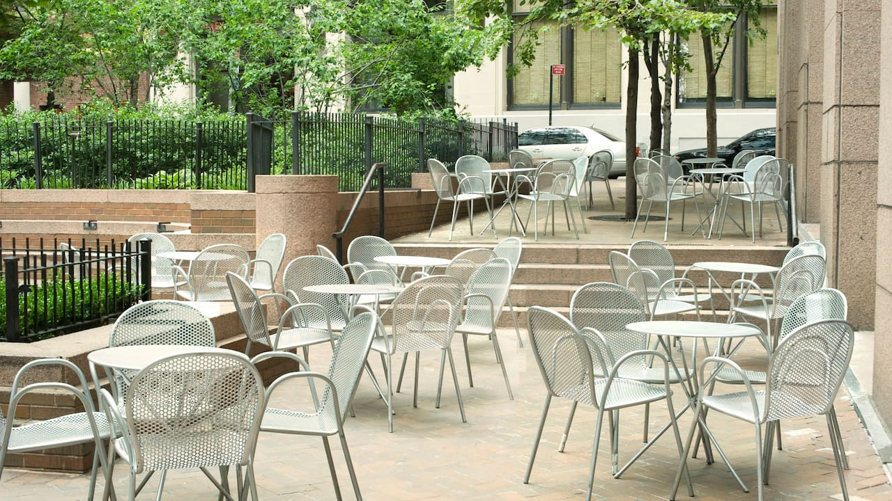Outdoor Patio in Manhattan at Andaz Wall Street