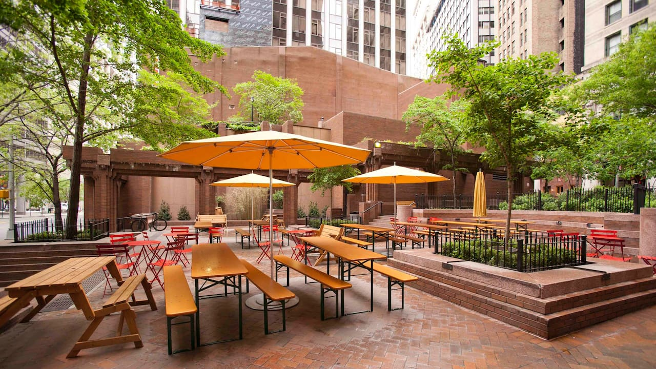 Beer Garden at Andaz Wall Street
