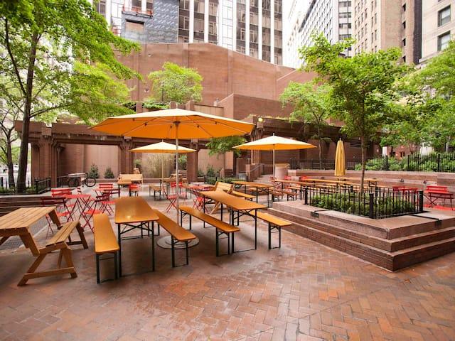 NYC Beer Garden Andaz Wall Street