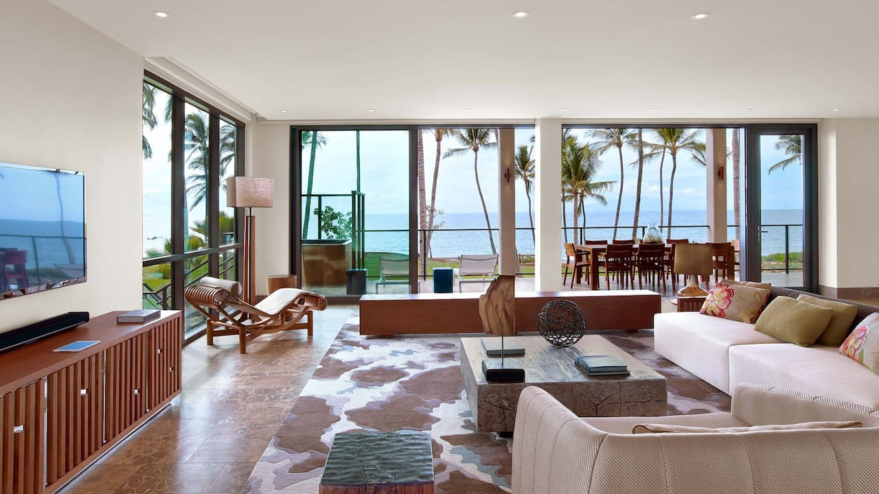 Villa Living Room and View
