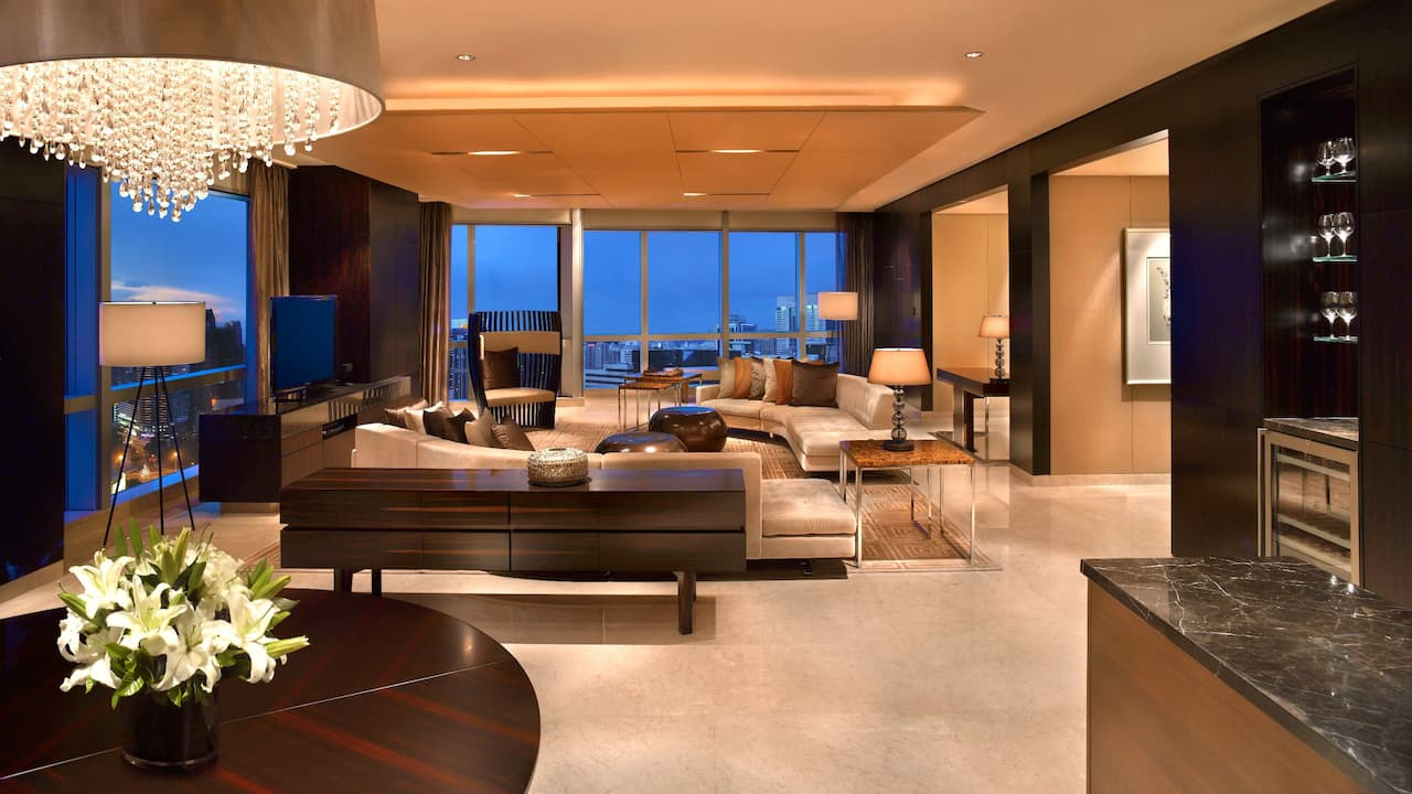 Grand Hyatt Shenzhen Presidential Suite Living Room