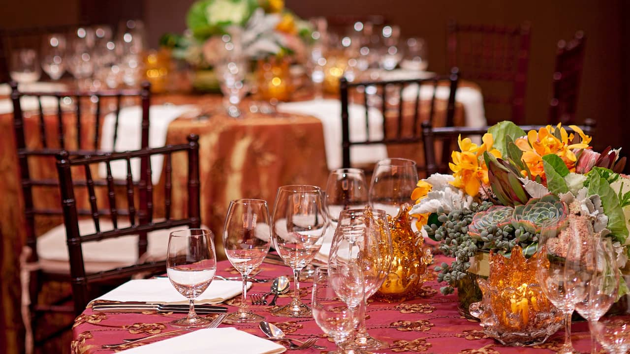 Grand Hyatt San Francisco Banquet Table