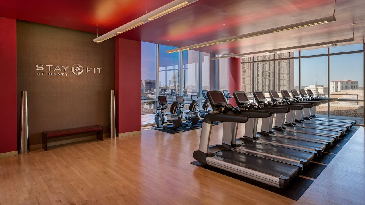 Gym at Grand Hyatt San Antonio