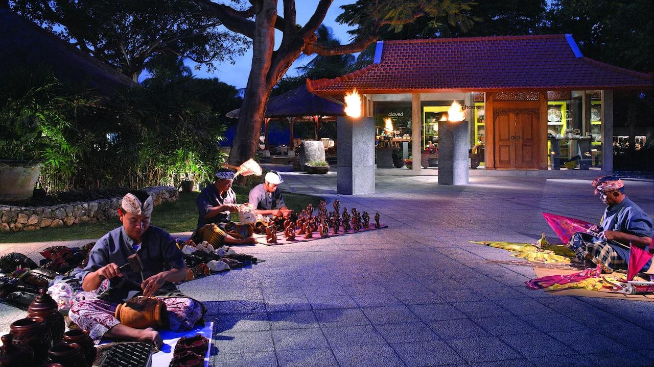 Bali's Handicraft at Pasar Senggol Restaurant Nusa Dua Bali - Grand Hyatt Bali