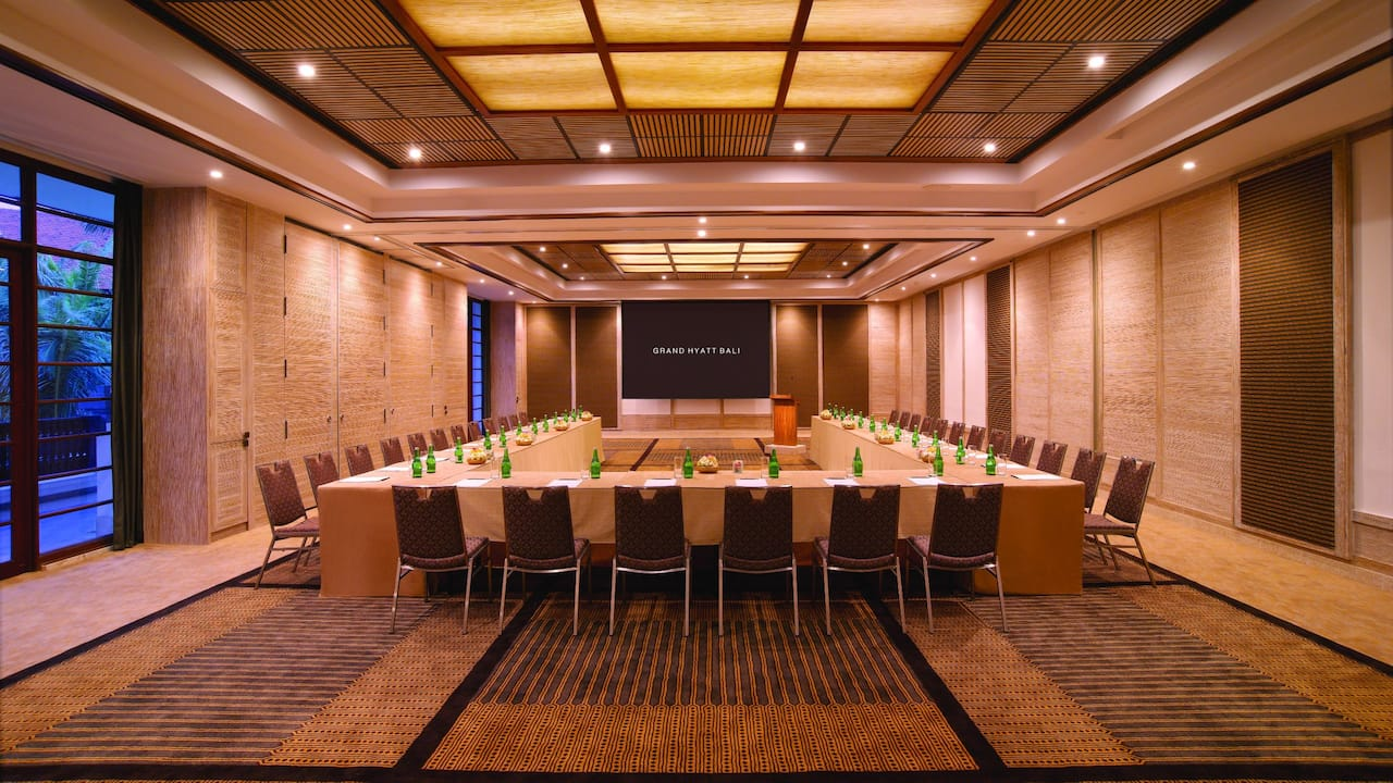 Bangli Meeting Room U Shape Setup, Grand Hyatt Bali
