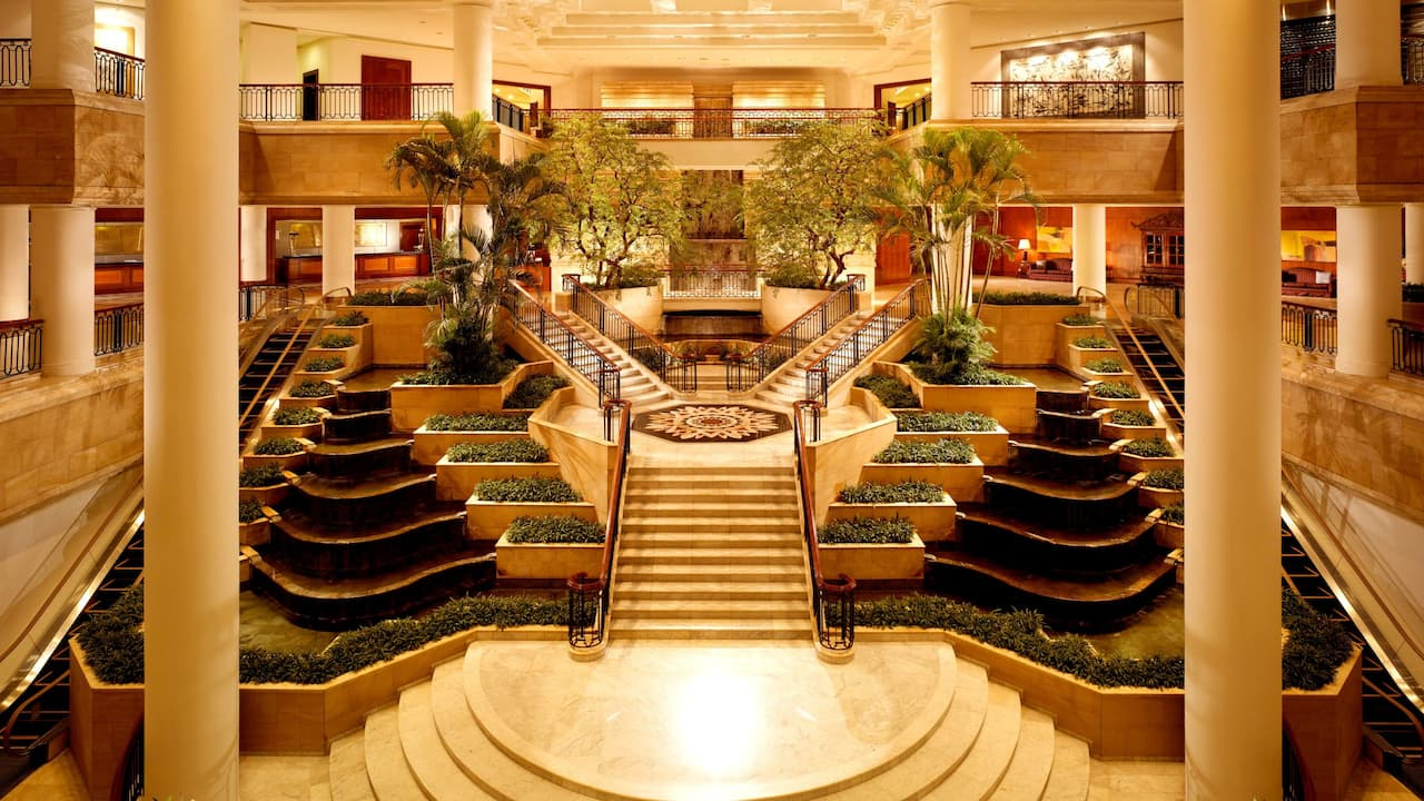 Luxury Hotel with Fine Dining & City Views (Lobby Area at The Grand Hyatt, Jakarta)