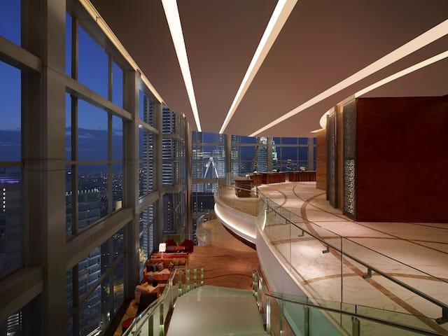 Sky Lobby (KLCC and Twin Towers View) at Grand Hyatt Kuala Lumpur, Malaysia