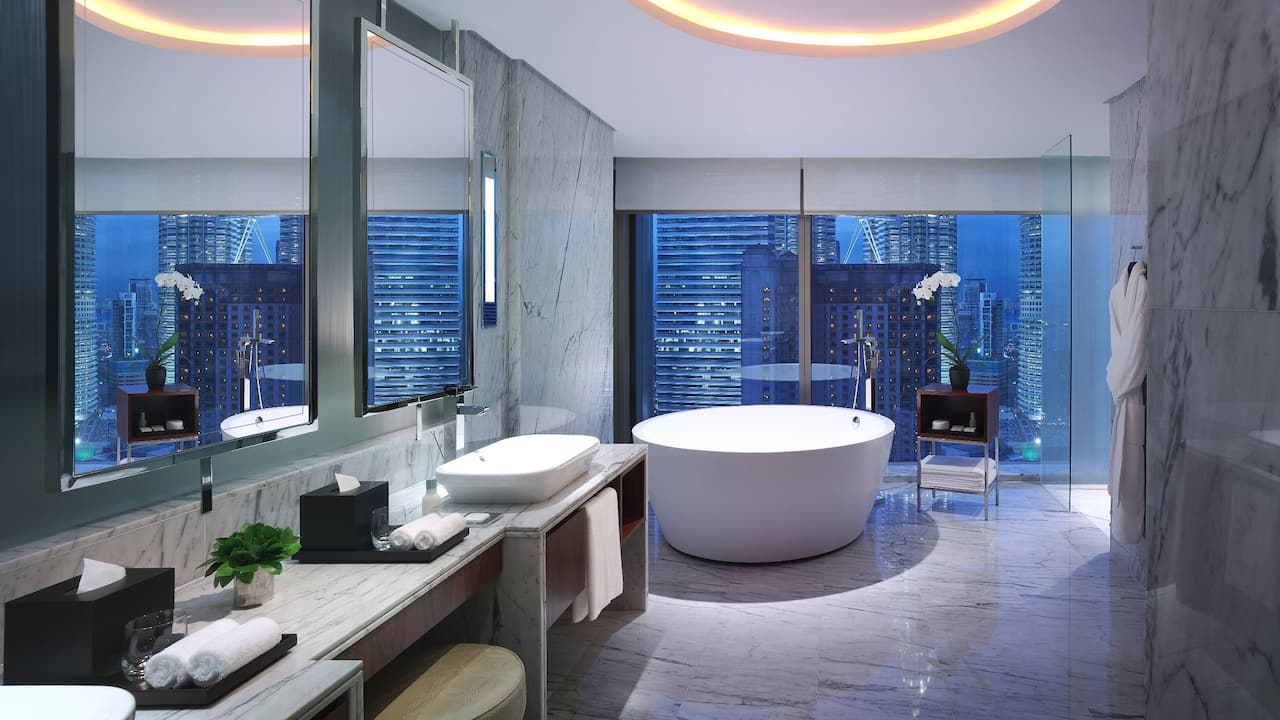 Grand Suite Bathroom at Twin Towers View Suite Grand Hyatt Kuala Lumpur