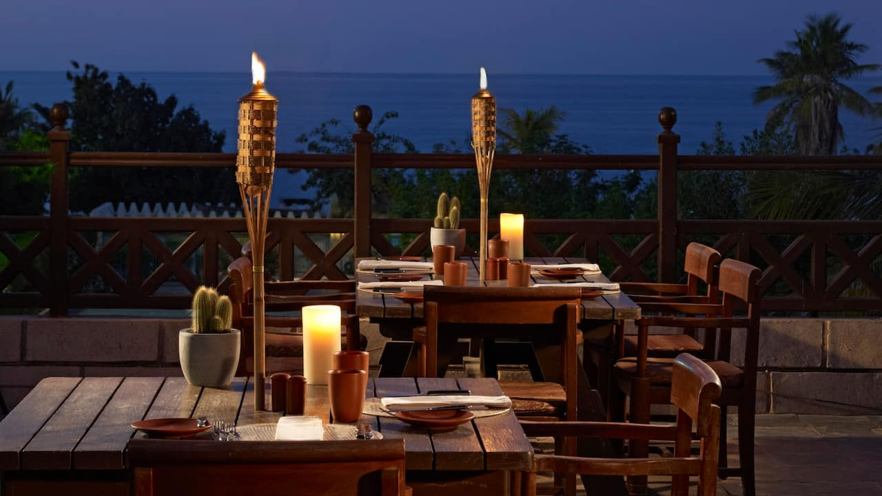 dinner beach view dining terrace