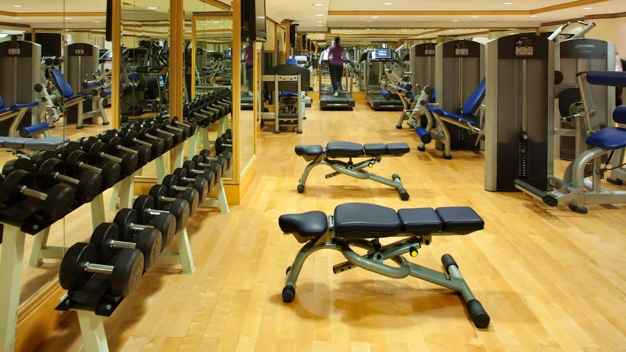 Club Olympus Fitness center at Grand Hyatt Muscat