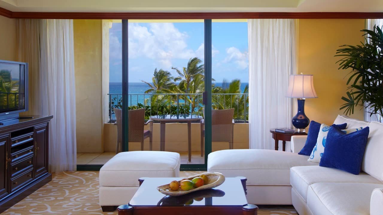 Grand Hyatt Kauai Beachfront Resort Oceanview Suite