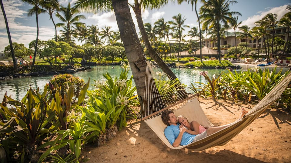 Grand Hyatt Kauai Couple in Hammock