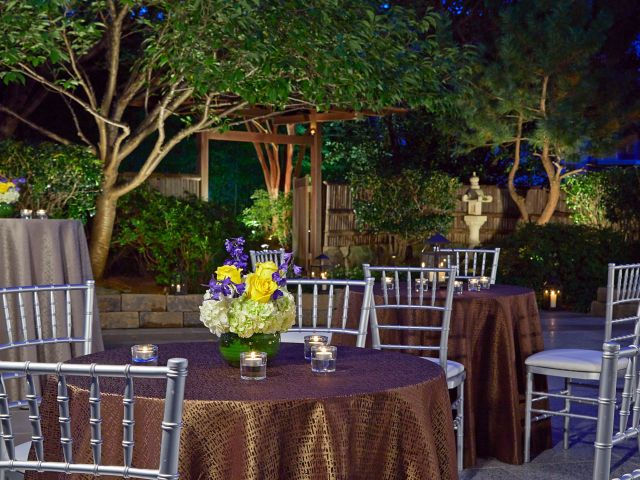 Terrace event dining tables